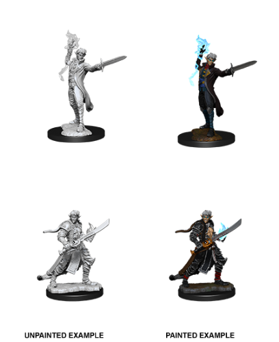 Male Elf Magus (Magic User): Pathfinder Battles Unpainted Miniatures